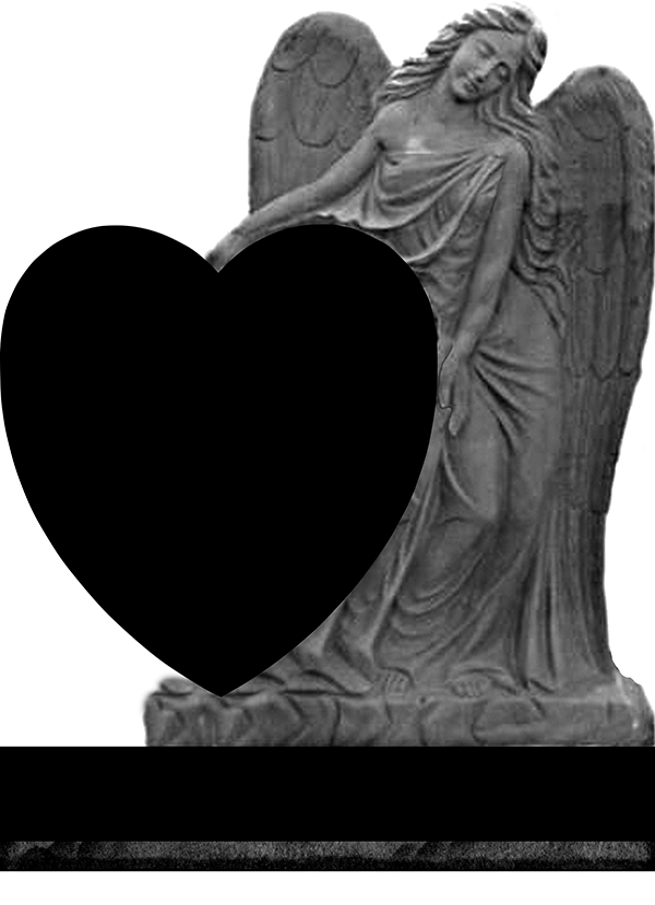 Angel with heart 360002 fewell monument for Fewell custom homes